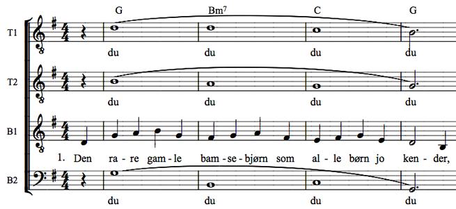 bamses fødselsdag tekst norsk